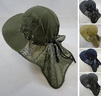 Legionnaires Hat [Solid Color with Mesh Sides] Mesh Flap